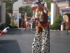 Stilt Walker at Atlanta Six Flags