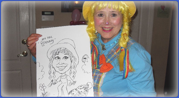 Birthday Clown Caricature Artist in Atlanta, GA