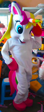 Person wearing unicorn costume